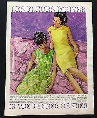 Dorothy COX Designs | 1965 Vintage Print Ad | Large Ad Woman's Fashion