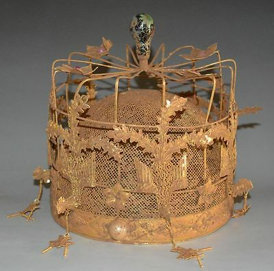 China Royal Antique Ming Dynasty Queen Hat Gold Bronze Phoenix Coronet Crown 凤冠