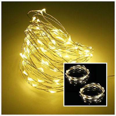 2PCS 40 LED String Light Copper Wire Light for Christmas Party New Year White
