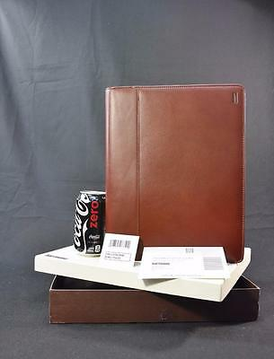 New in Box Vintage Hartmann Belting Leather Writing Portfolio 6640 Chestnut Case