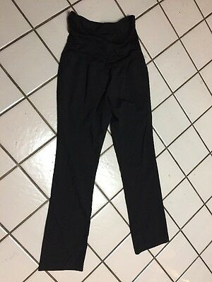 Liz Lange Maternity Stretch Black Rayon Poly Blend Casual Career Pants Sz M