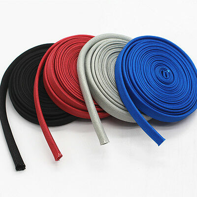 Heat Protector Woven Sleeve Colorful Spark Plug Wire 25ft High temp 1200 degrees