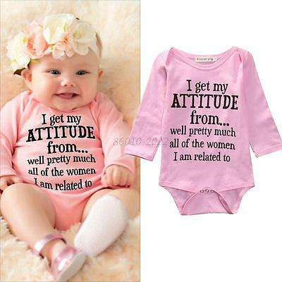 Newborn Baby Boys Girls Cotton Romper Long Sleeves Jumpsuit Bodysuit Kids Outfit