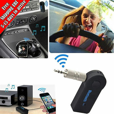 3.5mm Wireless Bluetooth Audio Stereo Music Home Car Aux Receiver Adapter Mic