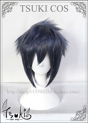 Final Fantasy 15 XV FFXV Noctis Lucis Blue mix Anime Cosplay costume Wig +track