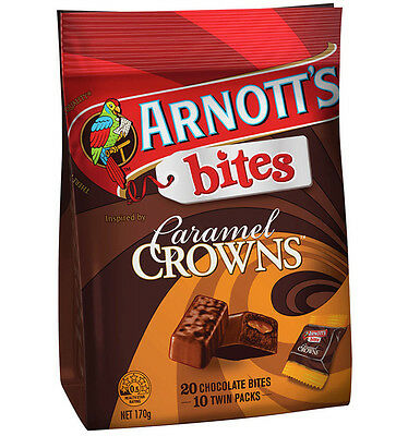 Arnotts Tim Tam Caramel Crown Bites 170g x 6