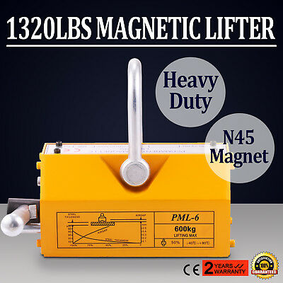 1320Lbs 600KG Steel Magnet Magnetic Lifter Titanium Alloy Low Residual Suspensio
