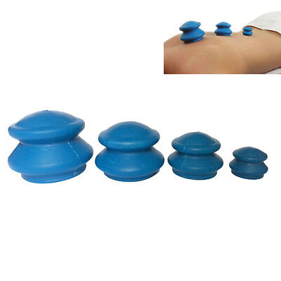 Chinese Rubber Cupping - Cellulite Therapy, Massage, Acupuncture - Set of 4Pcs