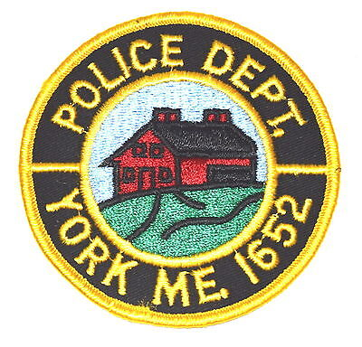 YORK MAINE ME Police Patch RED FARMHOUSE BARN ~
