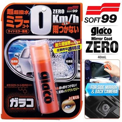SOFT99 Glaco Side Mirror Coat Zero 40ml Reverse Camera Car Rain Water Repellent