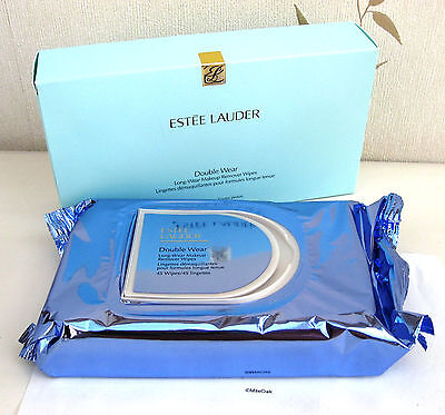 Estee Lauder Double Wear Long-Wear Make Up Remover Wipes - 45 wipes - BNIB