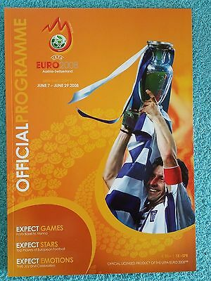 2008 - EUROPEAN CHAMPIONSHIP TOURNAMENT PROGRAMME - English Language Edition