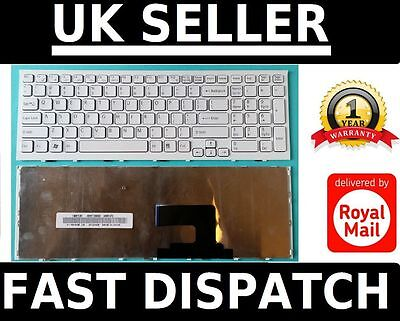 New Sony Vaio VPC-EH VPCEH US White Keyboard with Frame 148971511 V116646F