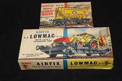 Airfix Ho/oo Model Railway Made Kits - Cement Wagons / Lowmac