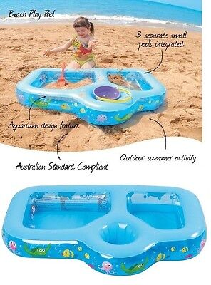 Baby Toddler Paddling Pool Inflatable 3 In 1 Beach Outdoor Summer Garden Pool