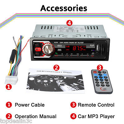 Autoradio Car 1 DIN MP3 Player Reproductor 12V BT Media Receptor USB SD MMC AUX