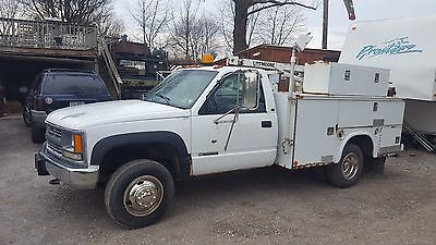 1998 chevy 3500 4x4 dually Service Truck With Crane