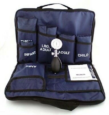 Blood Pressure Multi-cuff Kit 3 Case Blue. Free P&P