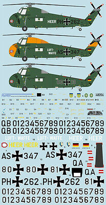Decal 1:48 Sikorsky H-34  G III LUFTWAFFE HEER