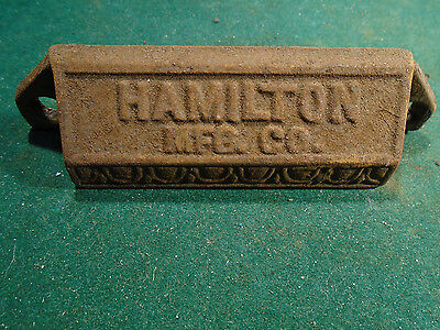 Vintage Cast Steel Hamilton Type Drawer / Bin Pull - Variation #2    (Rj-00102)