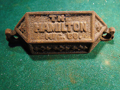 Vintage Cast Steel Hamilton Type Drawer / Bin Pull - Variation #3    (Rj-00103)