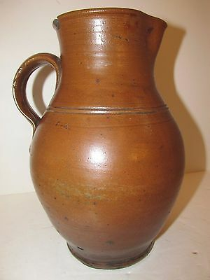 Antique Stoneware Pitcher, Great Form and Glaze