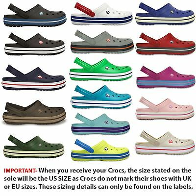Crocs Crocband Clogs Relaxed Fit Shoes Sandals 11016 in Wide Choice of Colours
