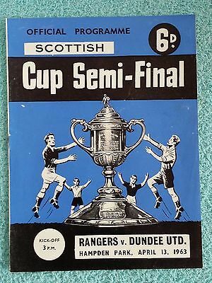1963 - SCOTTISH CUP SEMI FINAL PROGRAMME - RANGERS v DUNDEE UNITED