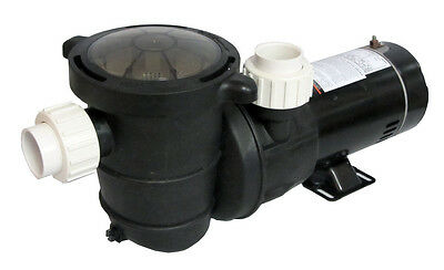 High Performance Swimming Pool Pump Above-Ground 0.75 HP with Union Fittings