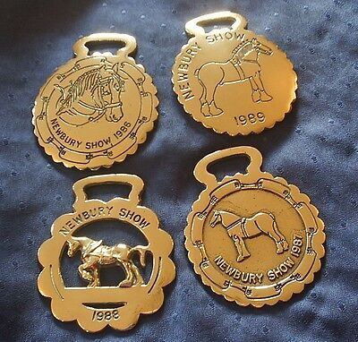 A Group Of Four Horse Brasses - Newbury Show - 1986-1989