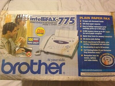 New Brother Intellifax 775 Plain Paper Fax with Phone and Copier Open Box~