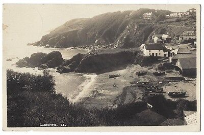 CADGWITH Cornwall, View in the Village, Postally Used Postcard 1935