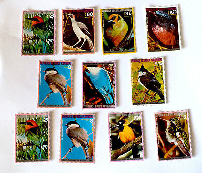 GUINEA EQUATORIALE  SERIE   FRANCOBOLLI  UCCELLI -stamps - timbres -
