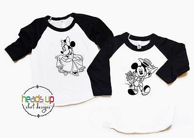 Disney Couples Shirts Matching Husband Wife Wedding Mickey Minnie Mr. Mrs. Tees
