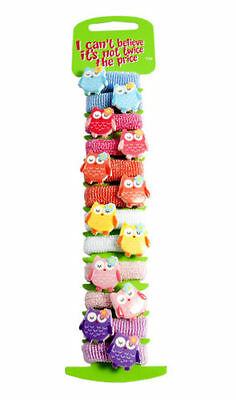 12 * Owl Design Hair Bobbles Bands Mini Baby Ponytail Elastic Stretchy