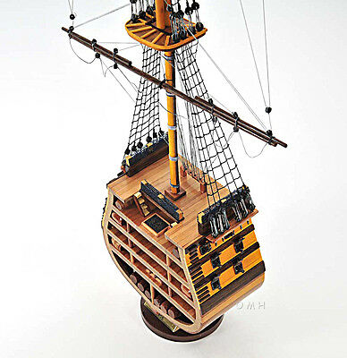 "35"" HMS Victory Cross Section Wooden Tall Ship Model Lord Nelson's Flagship"