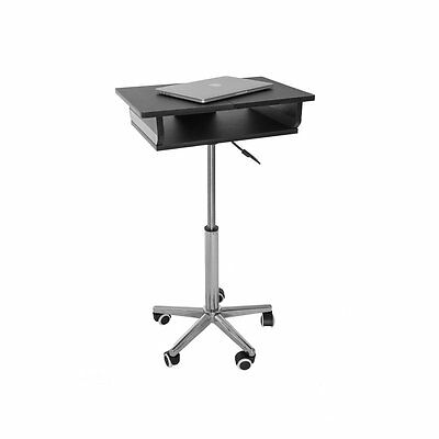 Deluxe DESK EURO Style Laptop Mobile Cart Stand Portable Foldable Rolling Wheel