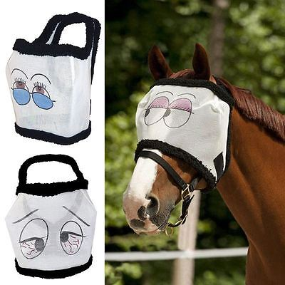 Riding World Eyes Fly Mask - Sweet Itch Face P.V.C. Mesh Net Horse Protection