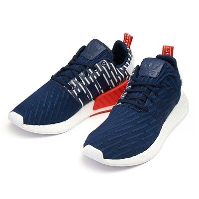 hot sale online 7c162 7522f ADIDAS NMD R2 PK SHOES NAVY  WHITE BB2952 US MENS SZ 4-11 kanye