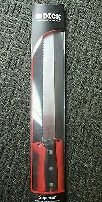"NEW F Dick 8103730 superior Serrated Knife 12"" high carbon germany professional"