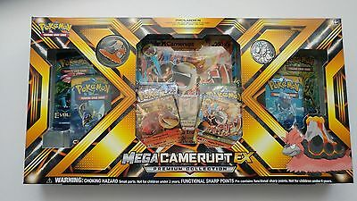 Pokemon Mega Camerupt Ex Premium Collection Box 6 Booster Packs Foils & More