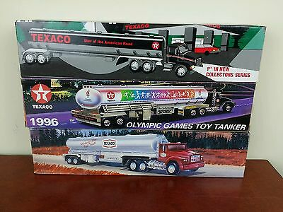 3 Texaco toy tanker trucks limited edition gas oil collectibles 1994 1995 1996