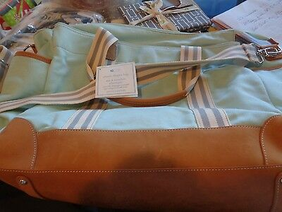 Pottery Barn Kids classic changing pad Diaper bag aqua New
