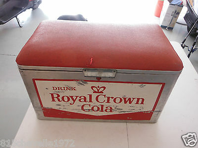 Vintage Cooler Royal Crown Cola Silver And Red Has A Red Pad On Top Nice L$$K!!