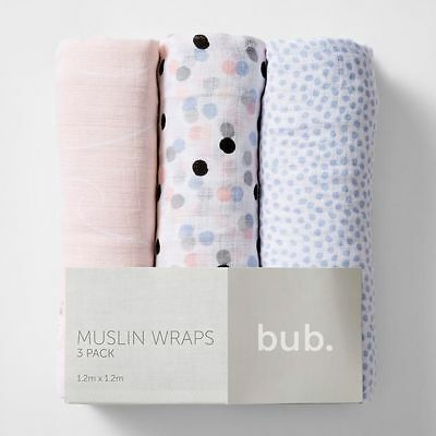 NEW 3 Pack Muslin Wraps
