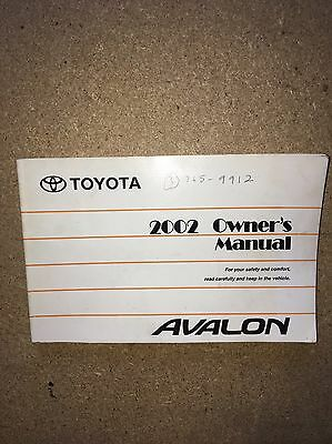 2002 toyota avalon owners manual 11 99 picclick rh picclick com 2002 toyota avalon owners manual download 2002 toyota avalon owners manual download