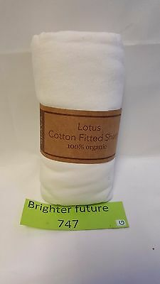 NEW! Guava Lotus Crib Organic Cotton Fitted Sheet. 100% Organic Cotton Free Ship