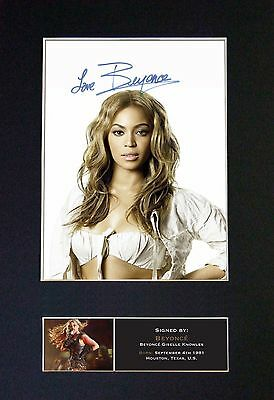 *NEW* BEYONCE MEMORABILIA - Collectors Signed Photo + FREE WORLDWIDE SHIPPING