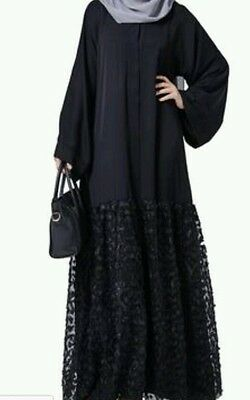 Women open front abaya.dress . saudi abaya japanese Neda/linen.sizes 56 & 58