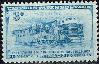 US Railroad 125 Ann Locomotive Train stamp 1952 MNH